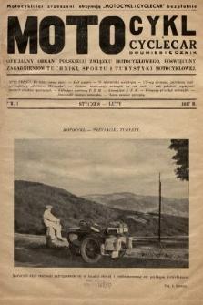 Motocykl i Cyclecar : oficjalny organ Polskiego Związku Motocyklowego, poświęcony zagadnieniom techniki, sportu i turystyki motocyklowej. 1937, nr1