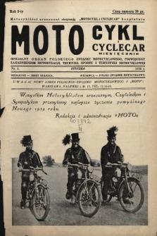 Motocykl i Cyclecar : oficjalny organ Polskiego Związku Motocyklowego, poświęcony zagadnieniom motoryzacji, techniki, sportu i turystyki motocyklowej. 1939, nr1