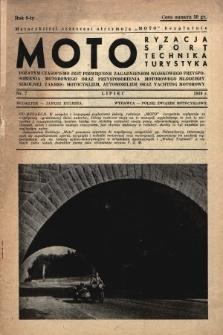 Motoryzacja, Sport, Technika, Turystyka : pozatym czasopismo jest poświęcone zagadnieniom wojskowego przysposobienia motorowego oraz przysposobienia motorowego młodzieży szkolnej : zakres: motocyklizm, automobilizm oraz yachting motorowy. 1939, nr7