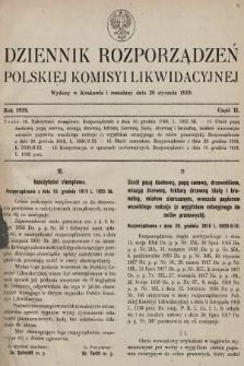 Dziennik Rozporządzeń Polskiej Komisyi Likwidacyjnej. 1919, część II