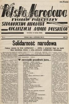 Polska Narodowa : tygodnik polityczny. 1936, nr9