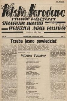 Polska Narodowa : tygodnik polityczny. 1936, nr10