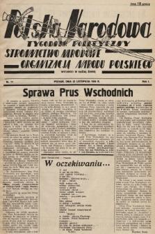 Polska Narodowa : tygodnik polityczny. 1936, nr11