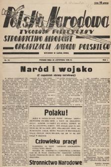 Polska Narodowa : tygodnik polityczny. 1936, nr12