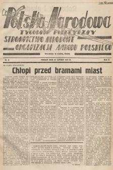 Polska Narodowa : tygodnik polityczny. 1937, nr8