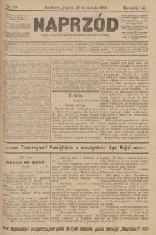 Naprzód : organ polskiej partyi socyalno-demokratycznej. 1900, nr19