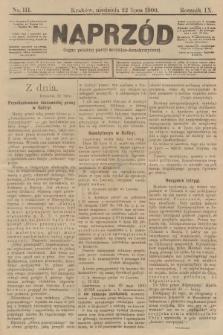 Naprzód : organ polskiej partyi socyalno-demokratycznej. 1900, nr111