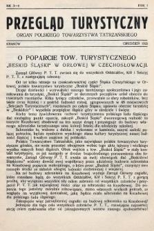 Przegląd Turystyczny : organ Polskiego Towarzystwa Tatrzańskiego. 1925, nr 3-4