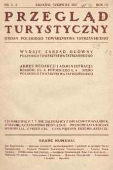 Przegląd Turystyczny : organ Polskiego Towarzystwa Tatrzańskiego. 1927, nr 5-6