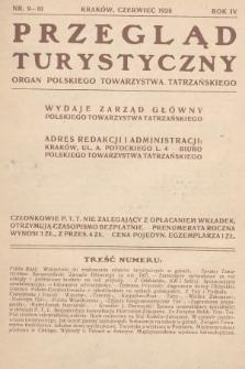Przegląd Turystyczny : organ Polskiego Towarzystwa Tatrzańskiego. 1928, nr 9-10