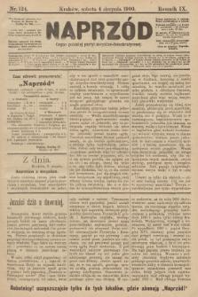 Naprzód : organ polskiej partyi socyalno-demokratycznej. 1900, nr124