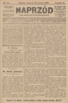 Naprzód : organ polskiej partyi socyalno-demokratycznej. 1900, nr170