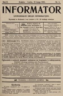 Informator : uniwersalny organ informacyjny. 1905, nr5