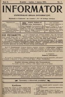 Informator : uniwersalny organ informacyjny. 1905, nr7