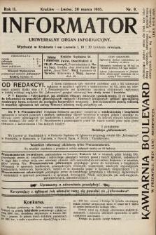 Informator : uniwersalny organ informacyjny. 1905, nr9