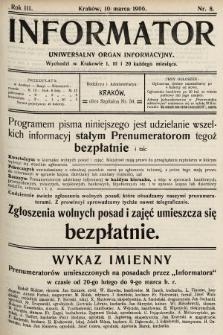 Informator : uniwersalny organ informacyjny. 1906, nr8