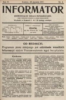 Informator : uniwersalny organ informacyjny. 1907, nr3
