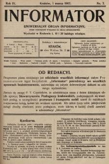 Informator : uniwersalny organ informacyjny. 1907, nr7