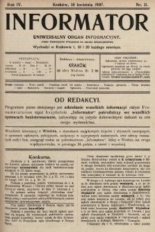 Informator : uniwersalny organ informacyjny. 1907, nr11