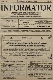 Informator : uniwersalny organ informacyjny. 1910, nr2