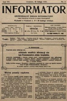 Informator : uniwersalny organ informacyjny. 1910, nr5