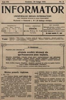 Informator : uniwersalny organ informacyjny. 1910, nr6