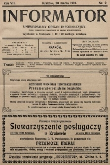 Informator : uniwersalny organ informacyjny. 1910, nr9