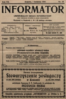 Informator : uniwersalny organ informacyjny. 1910, nr10