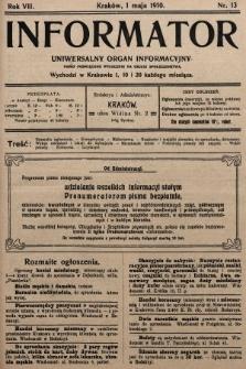 Informator : uniwersalny organ informacyjny. 1910, nr13