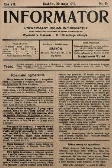 Informator : uniwersalny organ informacyjny. 1910, nr15