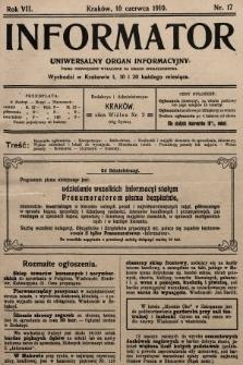 Informator : uniwersalny organ informacyjny. 1910, nr17