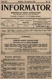 Informator : uniwersalny organ informacyjny. 1910, nr18