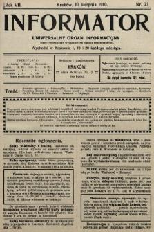 Informator : uniwersalny organ informacyjny. 1910, nr23