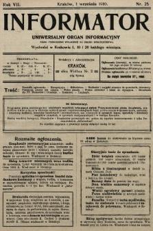 Informator : uniwersalny organ informacyjny. 1910, nr25