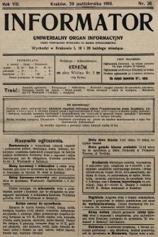 Informator : uniwersalny organ informacyjny. 1910, nr30