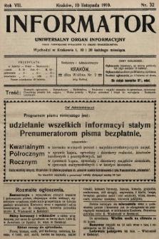 Informator : uniwersalny organ informacyjny. 1910, nr32