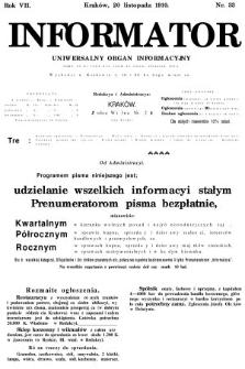 Informator : uniwersalny organ informacyjny. 1910, nr33