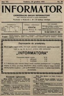 Informator : uniwersalny organ informacyjny. 1910, nr36