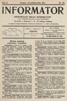 Informator : uniwersalny organ informacyjny. 1912, nr29