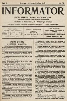Informator : uniwersalny organ informacyjny. 1912, nr30