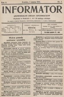 Informator : uniwersalny organ informacyjny. 1913, nr7