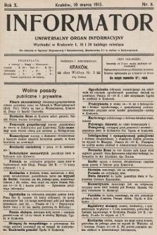 Informator : uniwersalny organ informacyjny. 1913, nr8
