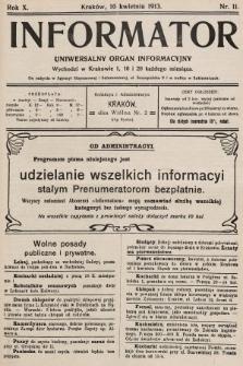 Informator : uniwersalny organ informacyjny. 1913, nr11