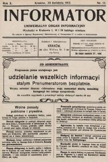 Informator : uniwersalny organ informacyjny. 1913, nr12