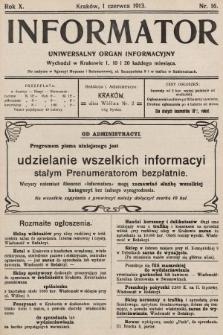 Informator : uniwersalny organ informacyjny. 1913, nr16