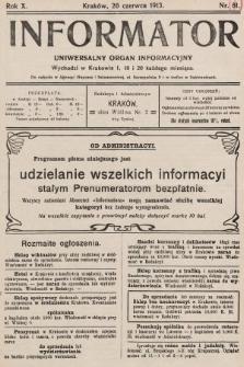 Informator : uniwersalny organ informacyjny. 1913, nr18