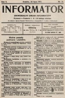 Informator : uniwersalny organ informacyjny. 1913, nr21