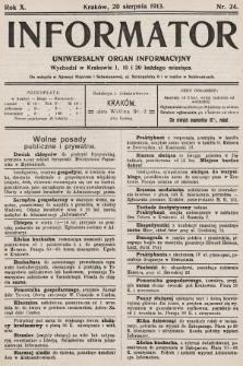 Informator : uniwersalny organ informacyjny. 1913, nr24