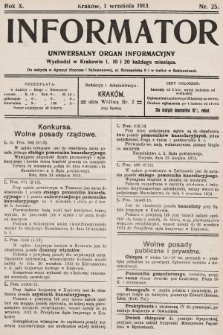 Informator : uniwersalny organ informacyjny. 1913, nr25