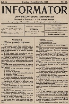 Informator : uniwersalny organ informacyjny. 1913, nr29